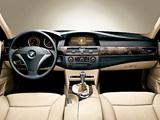 BMW 545i Sedan (E60) 2003–05 wallpapers