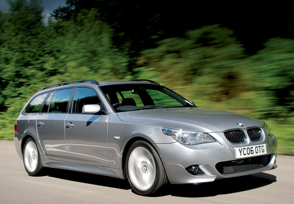 BMW 530d Touring M Sports Package UK-spec (E61) 2005 wallpapers