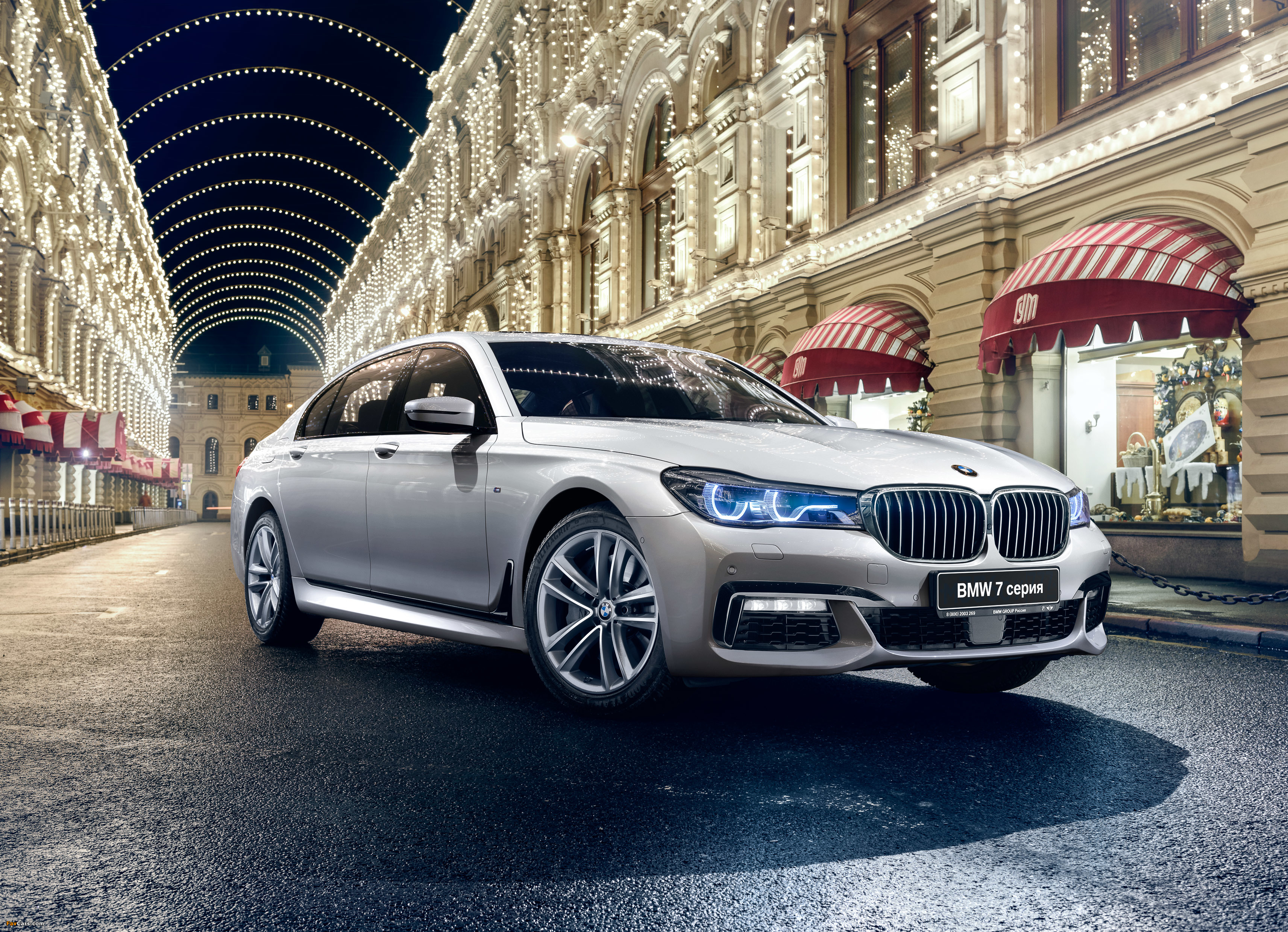bmw 750li xdrive m sport (g12) 2015 wallpapers (3425x2480)