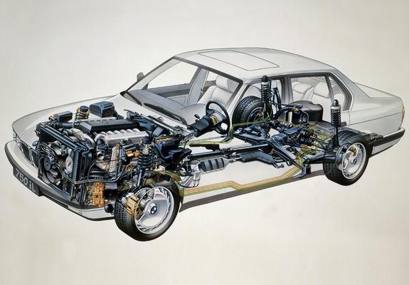 BMW 750iL (E32) 1987–94 wallpapers