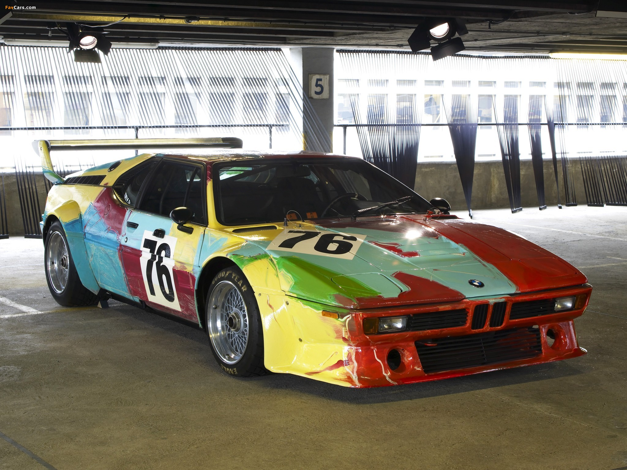 BMW M1 Group 4 Rennversion Art Car by Andy Warhol (E26) 1979 wallpapers (2048 x 1536)