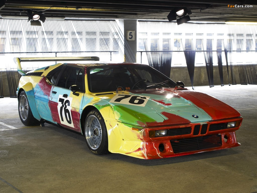 BMW M1 Group 4 Rennversion Art Car by Andy Warhol (E26) 1979 wallpapers (1024 x 768)
