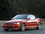 BMW M3 Cabrio US-spec (E46) 2001–06 wallpapers