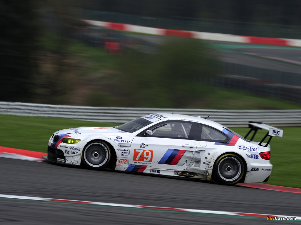 BMW M3 GT2 Race Car (E92) 2009–12 wallpapers (1024x768)