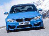 BMW M3 UK-spec (F80) 2014 wallpapers