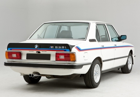 of BMW M535i UK-spec (E12) 1980–81