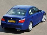 Photos of BMW M5 UK-spec (E60) 2005–09