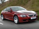 BMW M6 UK-spec (E63) 2005–10 photos