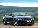 BMW M6 Cabrio UK-spec (E64) 2007–10 wallpapers