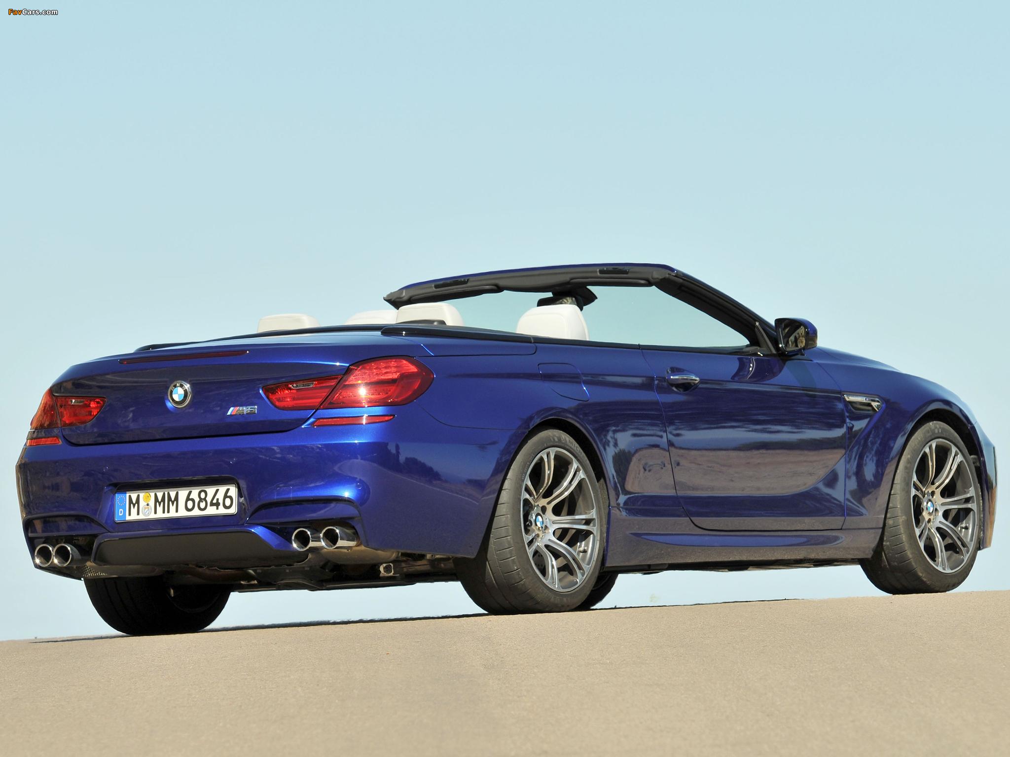 BMW M6 Cabrio (F12) 2012 pictures (2048 x 1536)