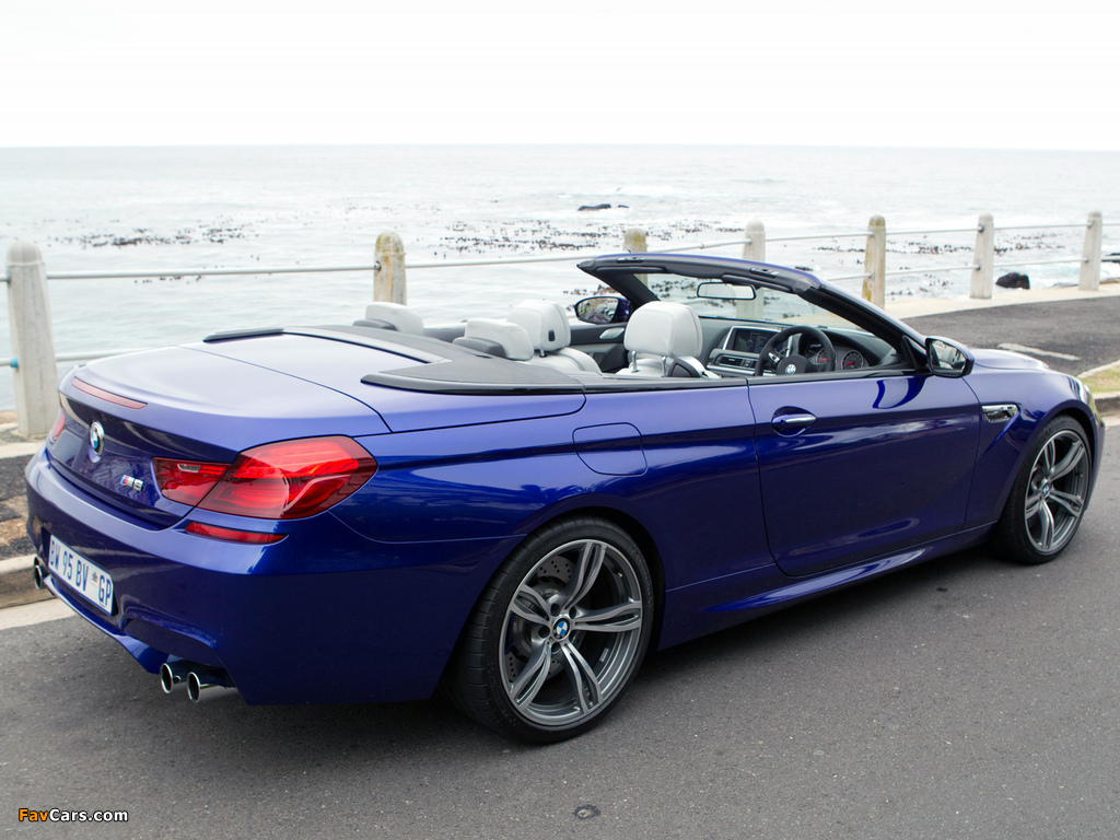 BMW M6 Cabrio ZA-spec (F12) 2012 pictures (1024 x 768)