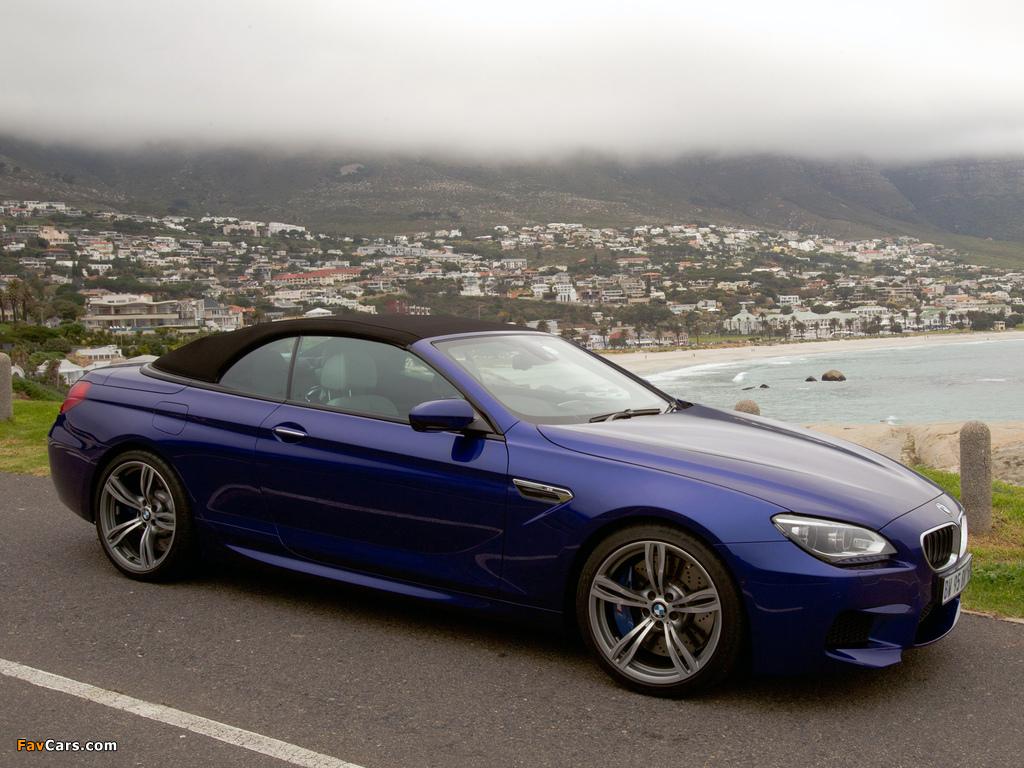 Photos of BMW M6 Cabrio ZA-spec (F12) 2012 (1024 x 768)