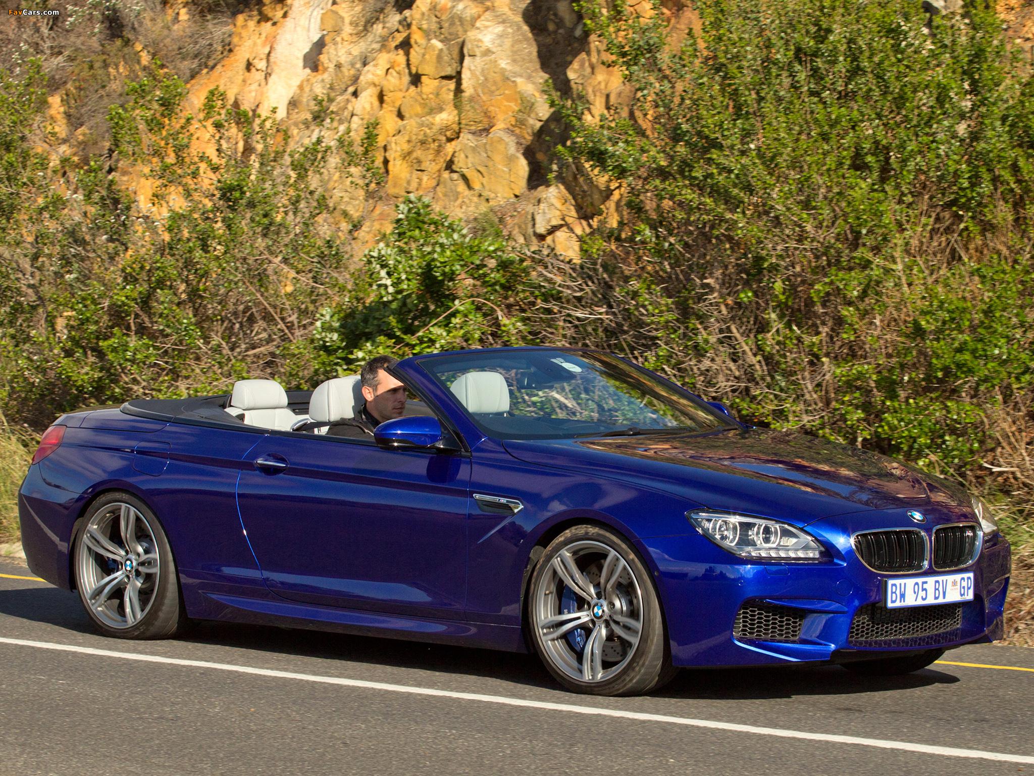 Photos of BMW M6 Cabrio ZA-spec (F12) 2012 (2048 x 1536)