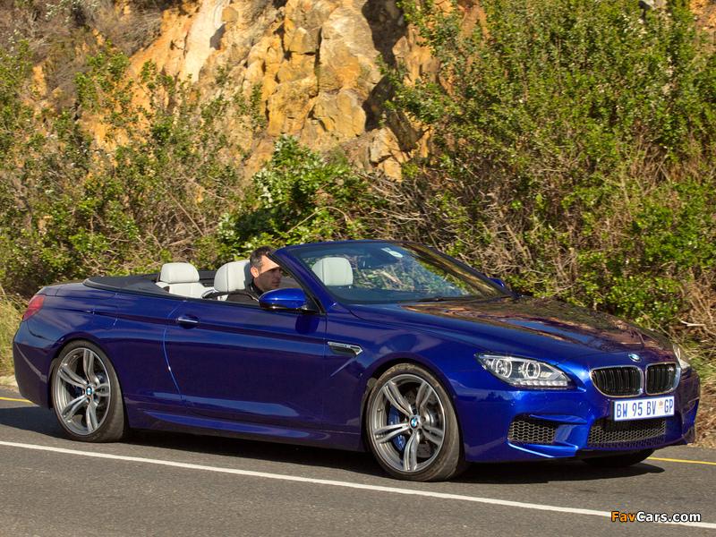 Photos of BMW M6 Cabrio ZA-spec (F12) 2012 (800 x 600)