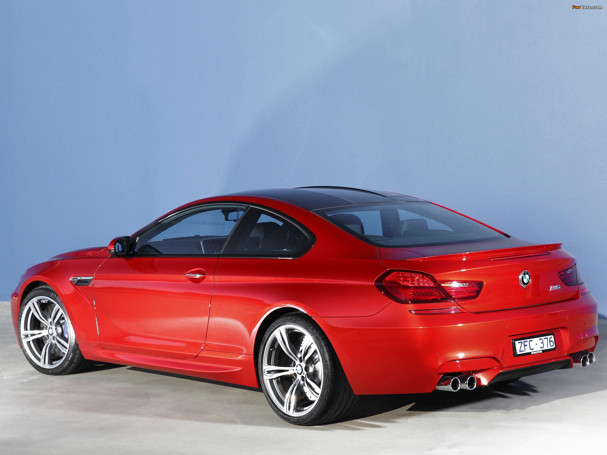 Photos of BMW M6 Coupe AU-spec (F13) 2012 (2048 x 1536)