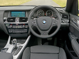 BMW X3 xDrive35d M Sport Package UK-spec (F25) 2014 wallpapers