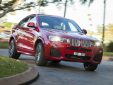 BMW X4 xDrive35i M Sports Package AU-spec (F26) 2014 images