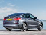 BMW X4 xDrive30d M Sports Package UK-spec (F26) 2014 photos