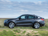 Photos of BMW X4 xDrive30d M Sports Package UK-spec (F26) 2014