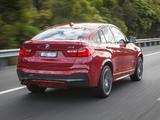 Photos of BMW X4 xDrive35i M Sports Package AU-spec (F26) 2014