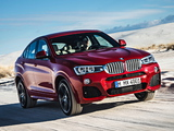 BMW X4 xDrive35i M Sports Package (F26) 2014 wallpapers