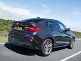BMW X4 xDrive30d M Sports Package UK-spec (F26) 2014 wallpapers