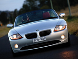 BMW Z4 2.5i Roadster AU-spec (E85) 2002–05 wallpapers