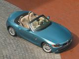 BMW Z4 2.5i Roadster US-spec (E85) 2002–05 wallpapers