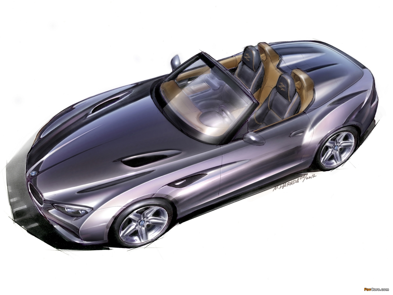 Sketch Bmw Zagato Roadster 2012 Pictures 1600x1200