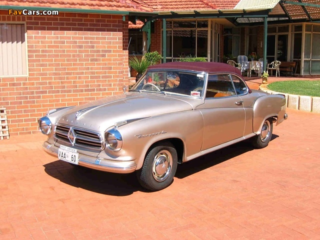 Borgward Isabella Cabriolet 1958–61 wallpapers (640 x 480)