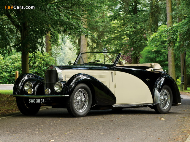 Bugatti Type 57C Stelvio Cabriolet by Gangloff (№57467) 1937 photos (640 x 480)