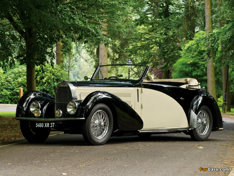 Bugatti Type 57C Stelvio Cabriolet by Gangloff (№57467) 1937 photos (800 x 600)