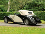 Bugatti Type 57C Stelvio Cabriolet by Gangloff (№57467) 1937 wallpapers