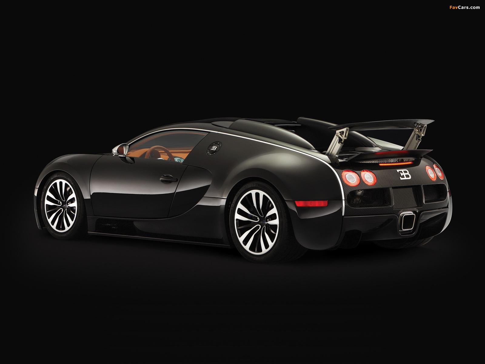 Bugatti Veyron Sang Noir 2008 wallpapers (1600 x 1200)