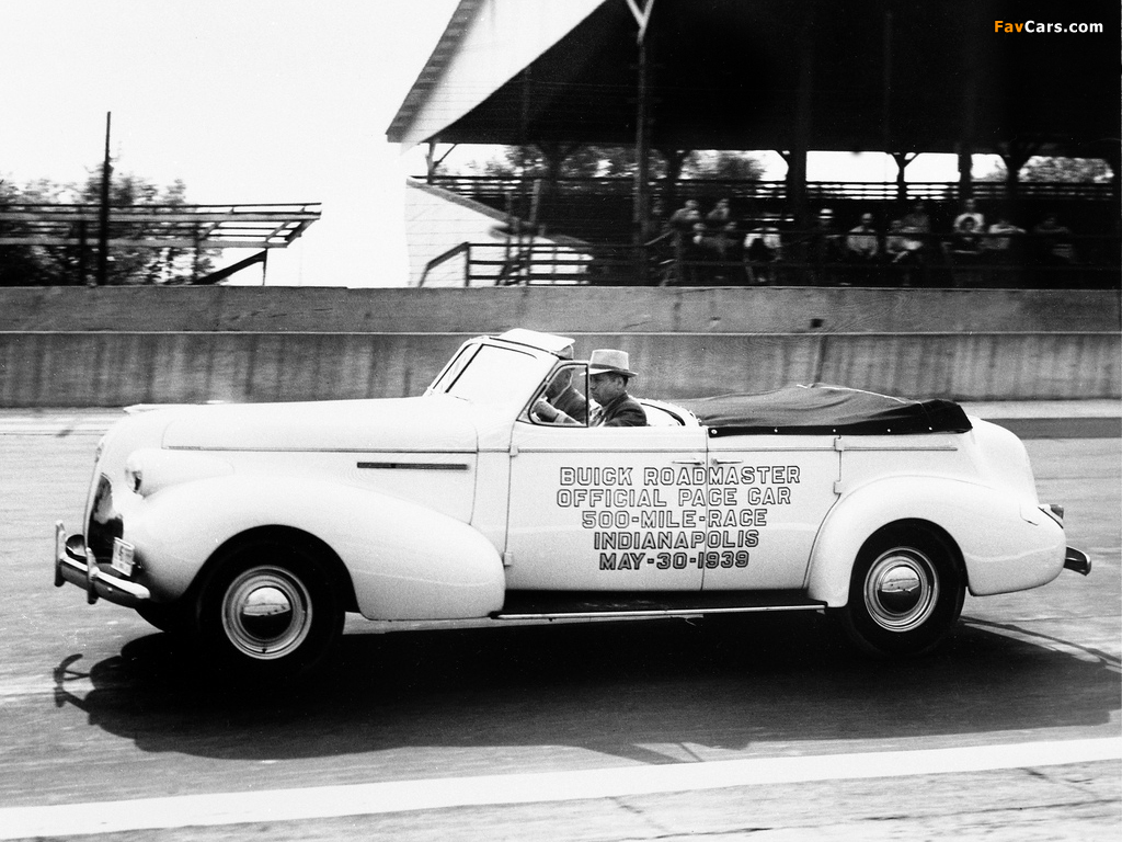 Buick Roadmaster Sport Phaeton Trunk Back Indy 500 Pace Car (81C) 1939 pictures (1024 x 768)