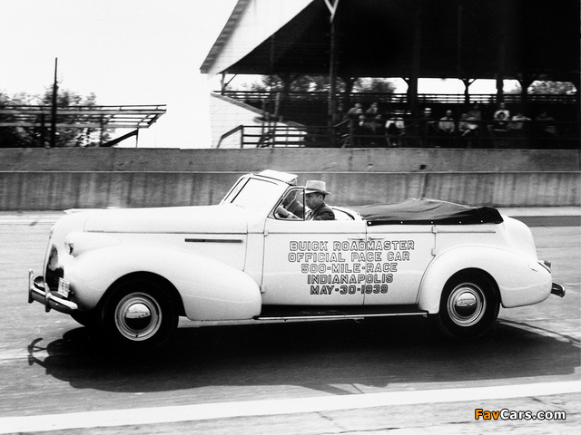Buick Roadmaster Sport Phaeton Trunk Back Indy 500 Pace Car (81C) 1939 pictures (640 x 480)