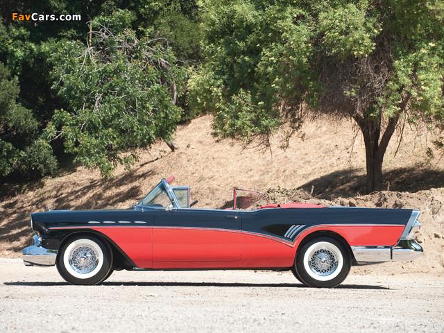 Buick Roadmaster Convertible (76C) 1957 photos (640 x 480)