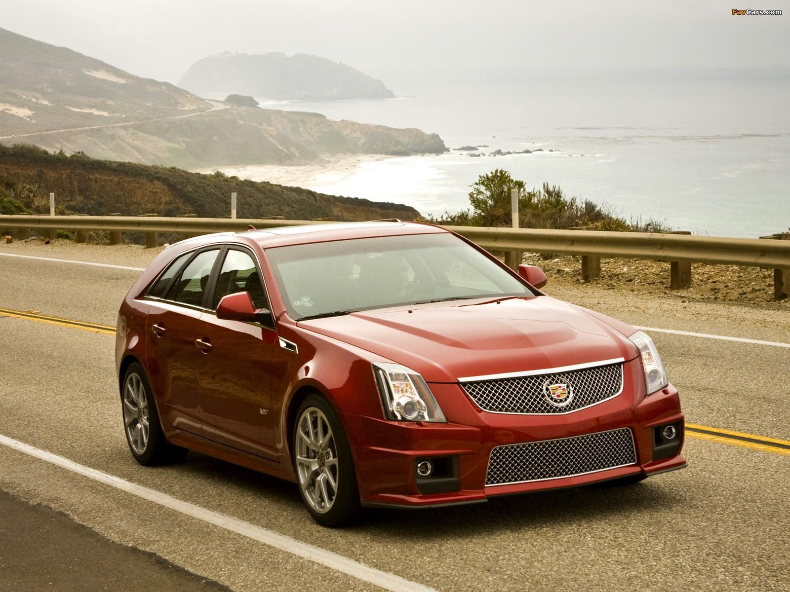 Cadillac CTS-V Sport Wagon 2010 photos (1600 x 1200)