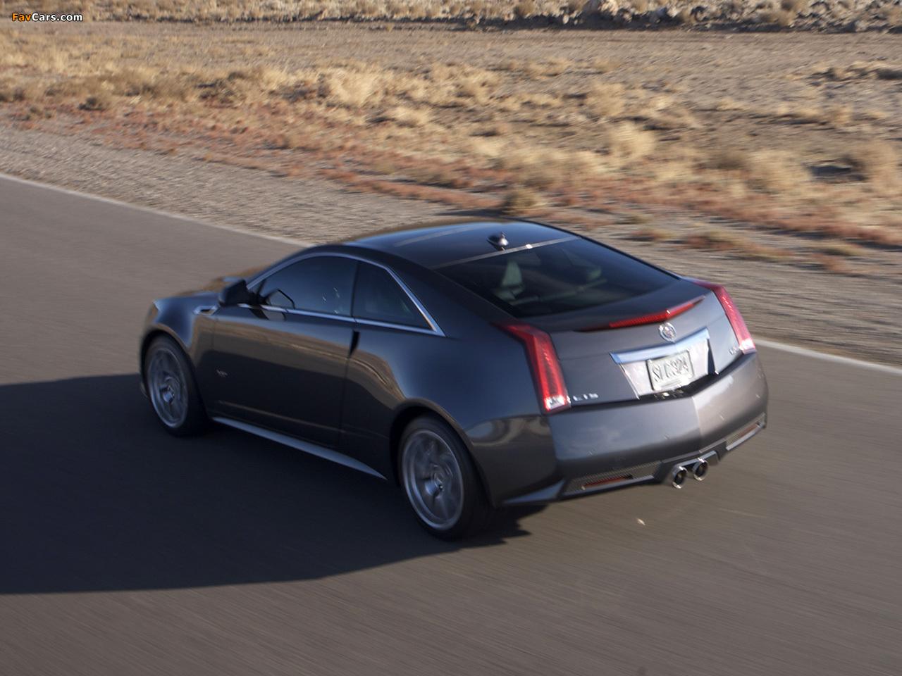 Cadillac CTS-V Coupe 2010 photos (1280 x 960)