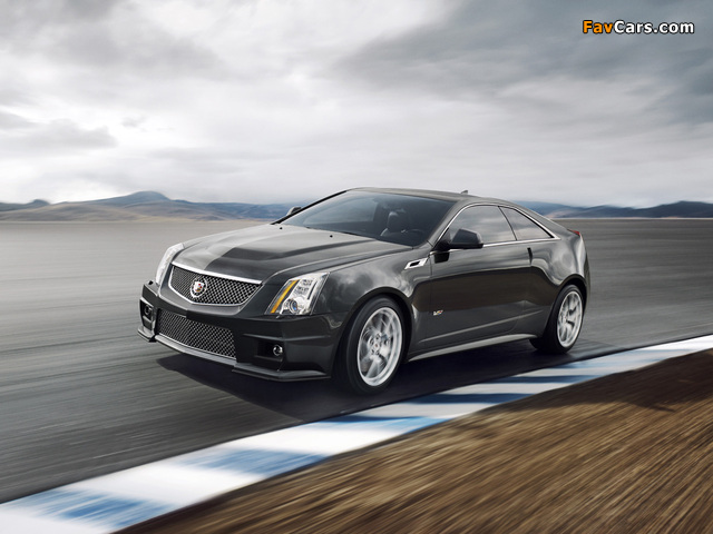 Cadillac CTS-V Coupe 2010 wallpapers (640 x 480)