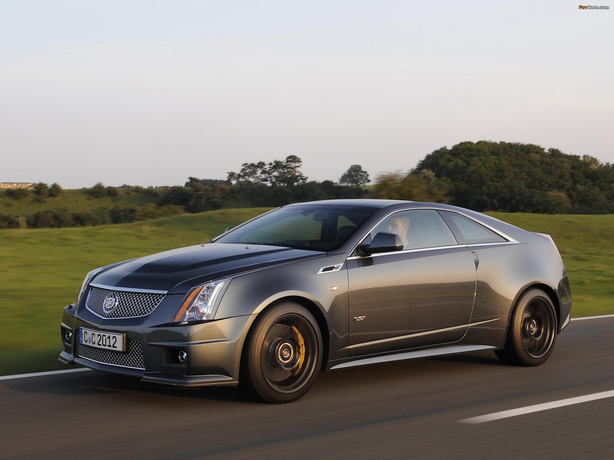Cadillac CTS-V Coupe Black Diamond EU-spec 2011 pictures (2048 x 1536)