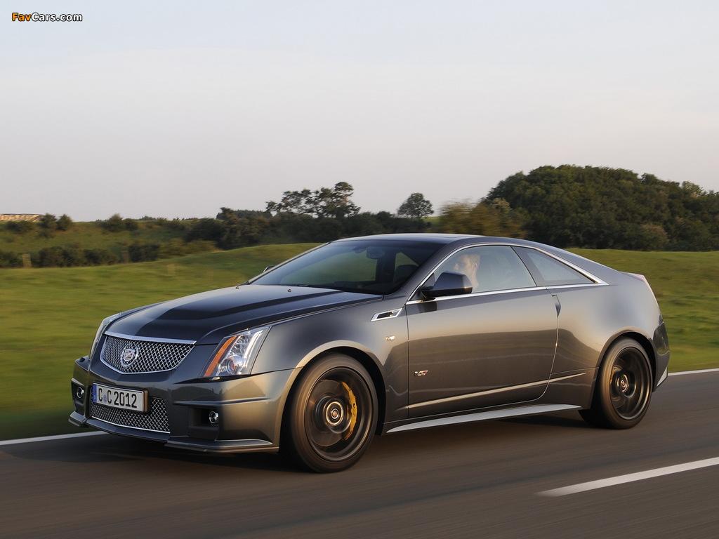 Cadillac CTS-V Coupe Black Diamond EU-spec 2011 pictures (1024 x 768)
