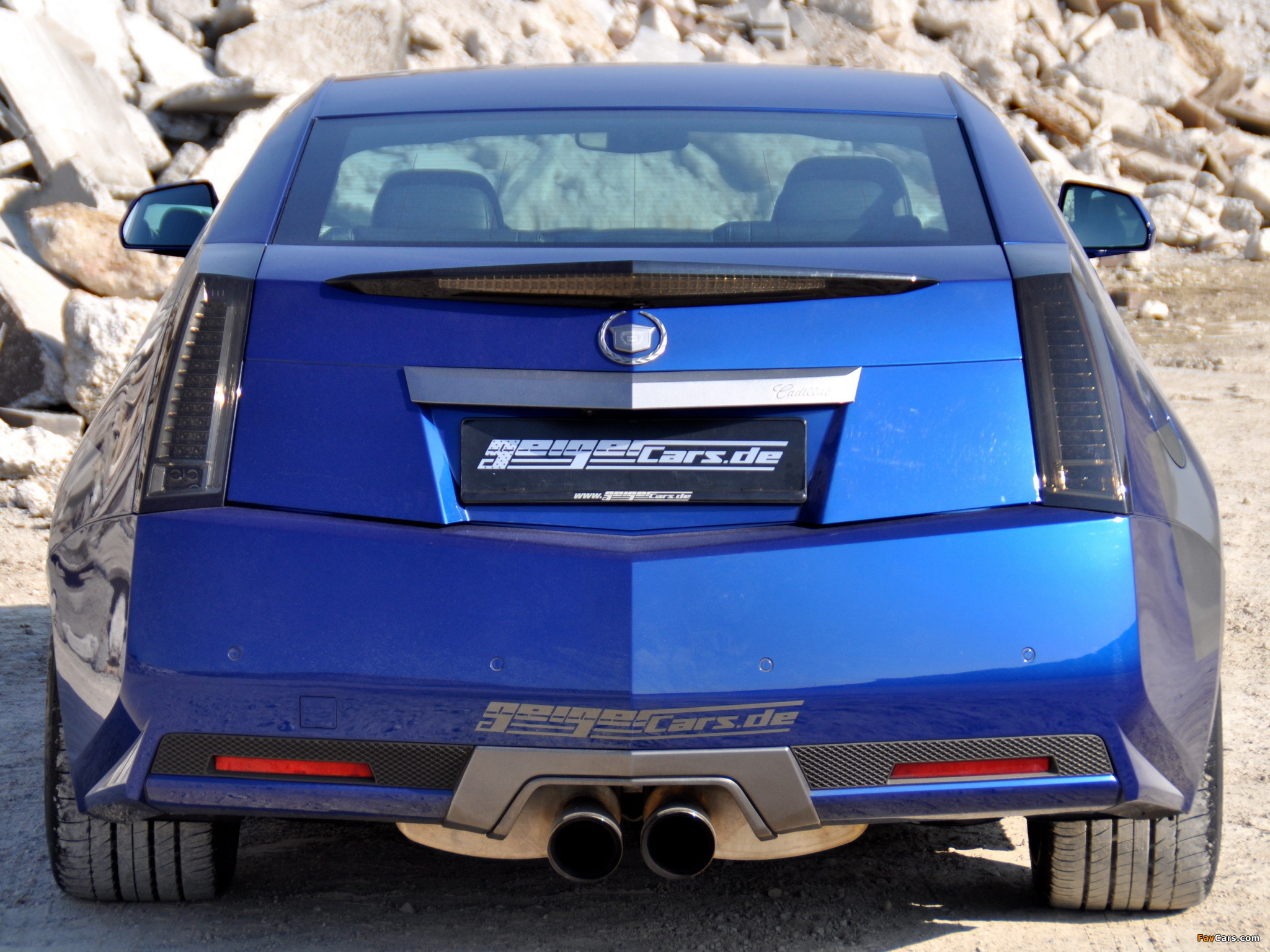 Geiger Cadillac Cts V Coupe Blue Brute 2011 Wallpapers 2048x1536