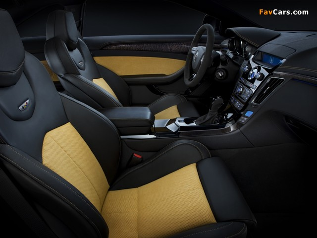 Cadillac CTS-V Coupe Black Diamond 2011 wallpapers (640 x 480)