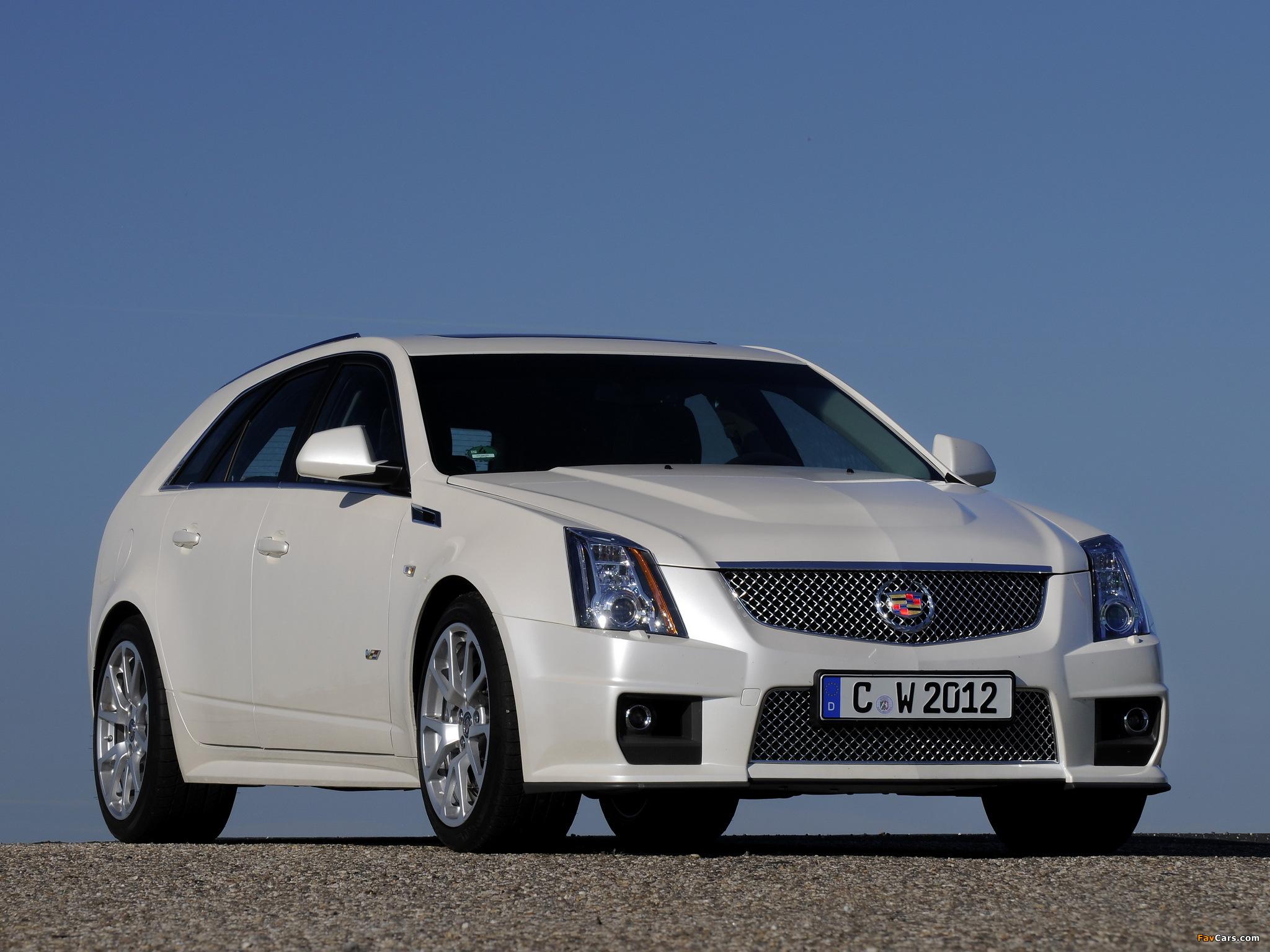Images of Cadillac CTS-V Sport Wagon EU-spec 2010 (2048 x 1536)