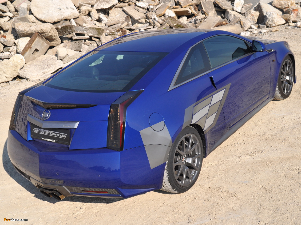 Images of Geiger Cadillac CTS-V Coupe Blue Brute 2011 (1280 x 960)