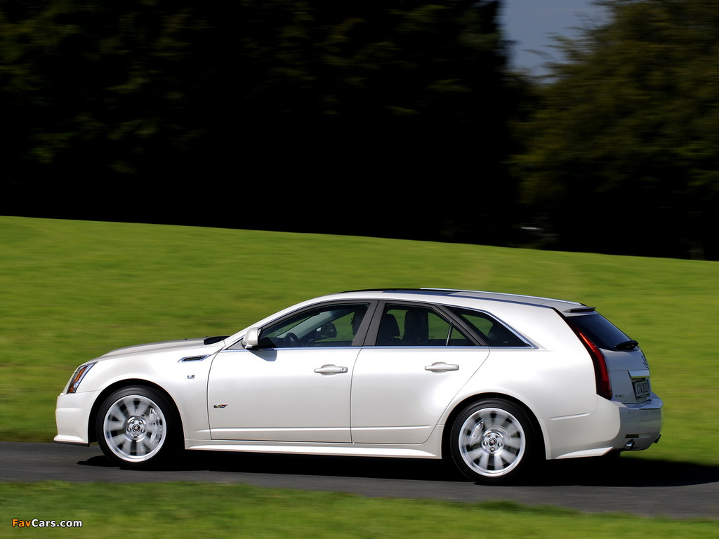 Photos of Cadillac CTS-V Sport Wagon EU-spec 2010 (1024 x 768)