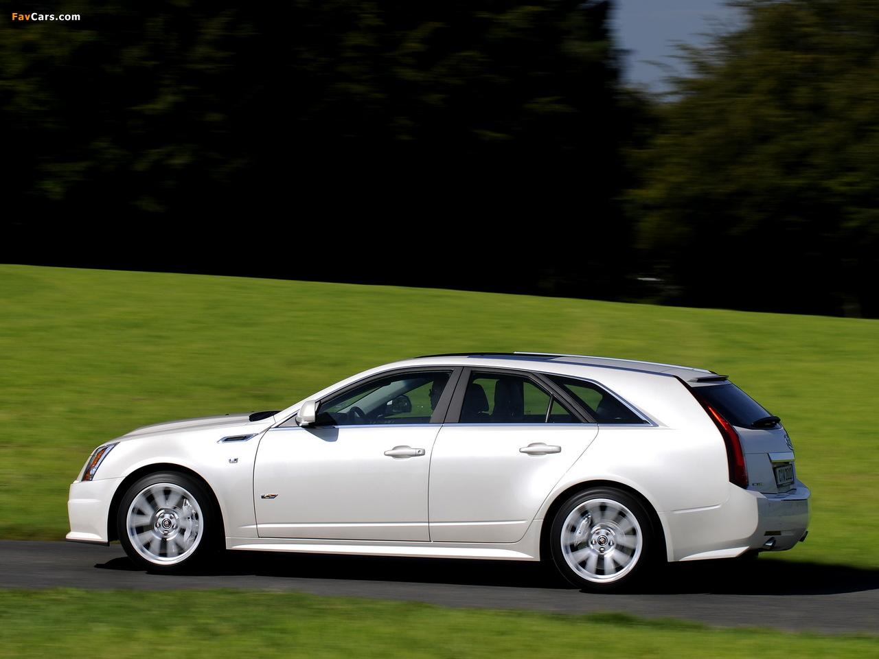 Photos of Cadillac CTS-V Sport Wagon EU-spec 2010 (1280 x 960)