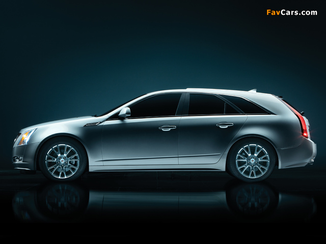 Cadillac CTS Sport Wagon 2009 wallpapers (640 x 480)