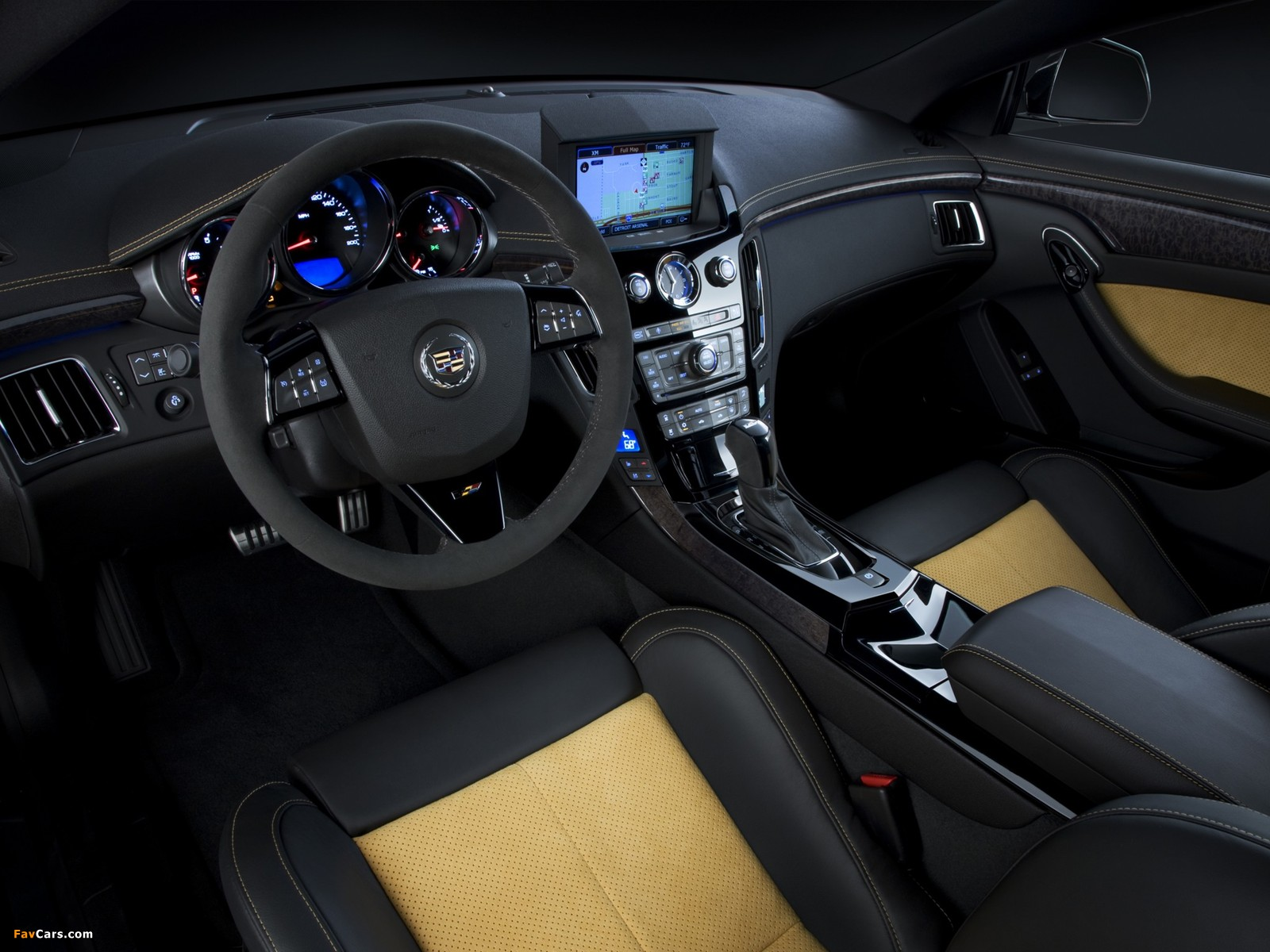Cadillac CTS-V Coupe Black Diamond 2011 wallpapers (1600 x 1200)